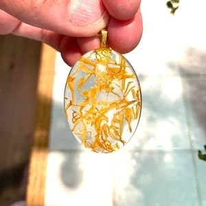 Jewelry - Marigold Resin Necklace